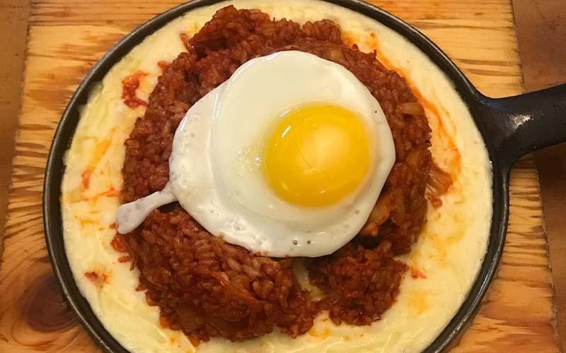Cheese Volcano Kimchi Fried Rice