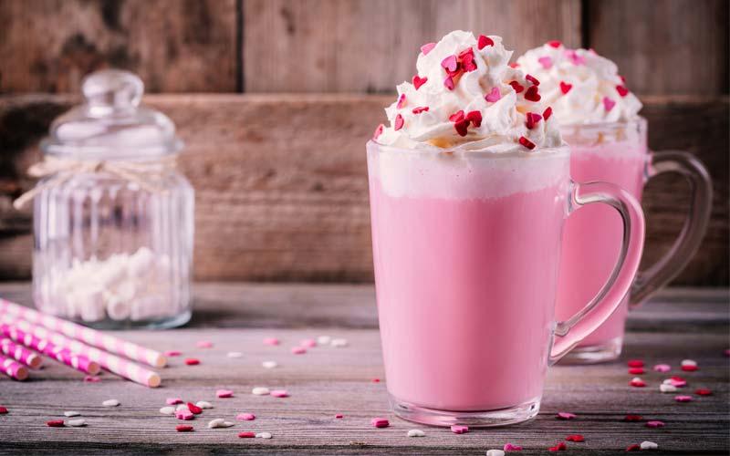 Pinky Rose Hot Chocolate