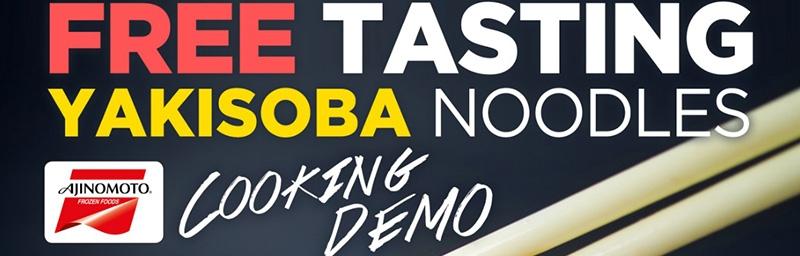 Free Tasting Yakisoba Noodles