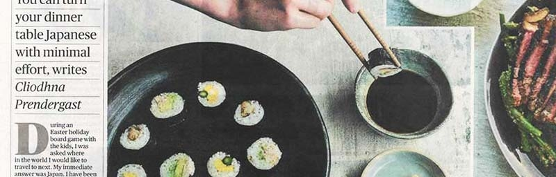 Sunday Times Food Column Featuring Japanese Recipes
