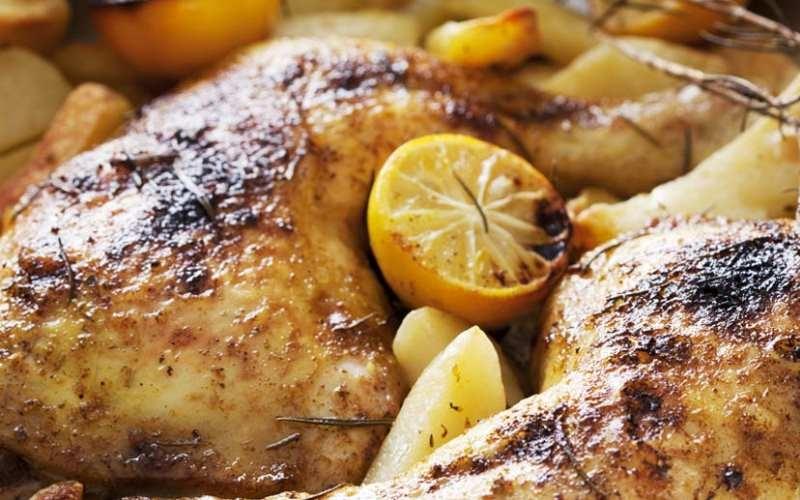 Roasted Lemon & Kaffir Lime Chicken Thighs