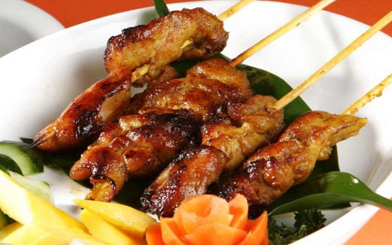 Satay Chicken on Skewers