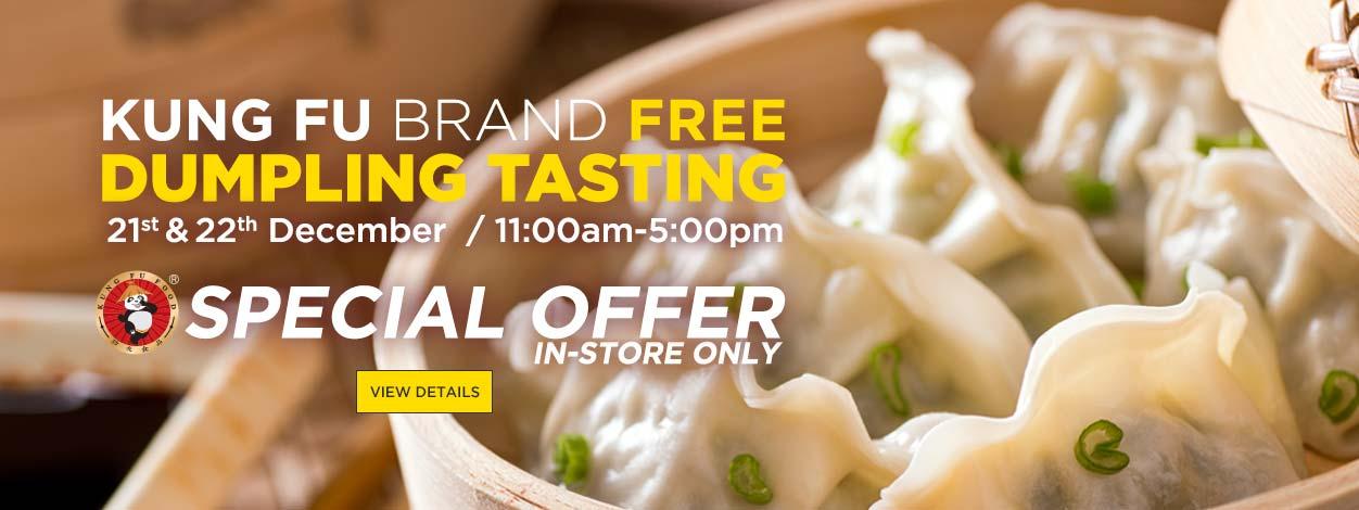 Kung Fu Dumpling Tasting Event at Asia Market
