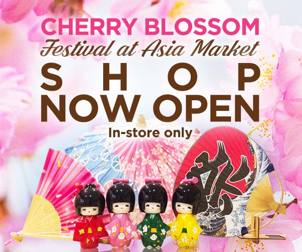 Cherry Blossom Festival Shop Now Open