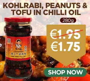 Laoganma Kohlrabi Peanuts & Tofu in Chilli Oil 280g