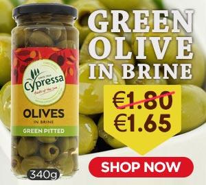 Cypressa Green Olive in Brine 340g