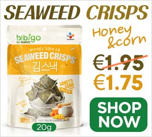 CJ-Bibigo Honey & Corn Seaweed Crisps 20g