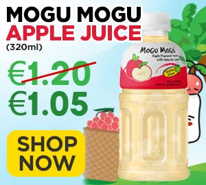 Mogu Mogu Apple Juice with Nata De Coco