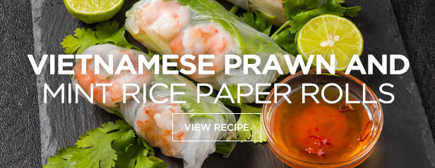 Vietnamese Prawn and Mint Rice Paper Rolls
